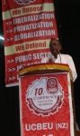 Com. K. Vijhayan addressing the conference